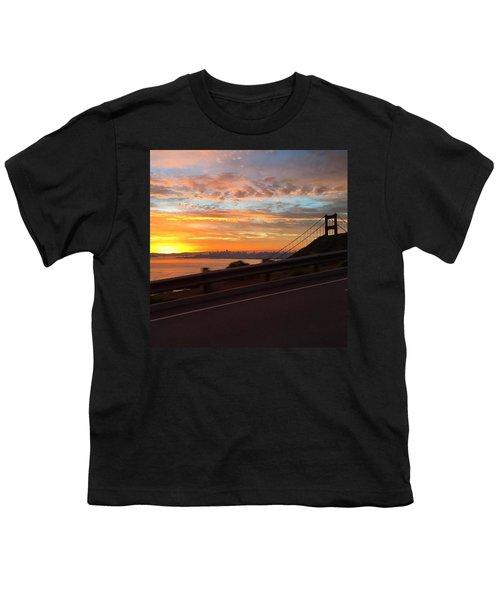 Sunrise Over San Francisco Youth T-Shirt by Eugene Evon