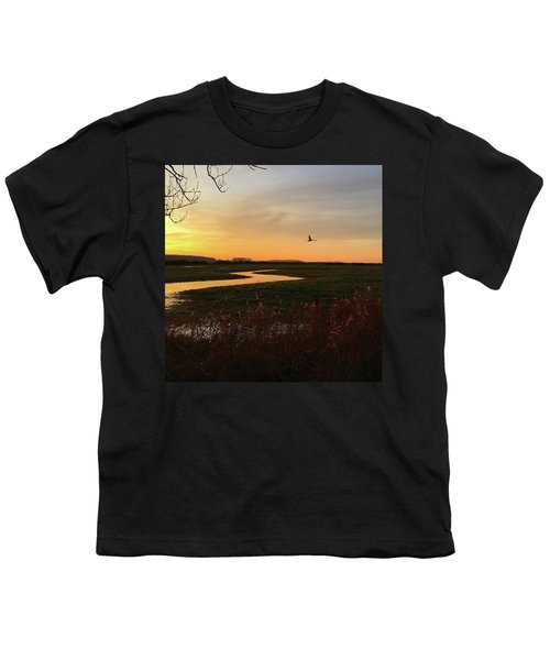 Sunset At Holkham Today  #landscape Youth T-Shirt