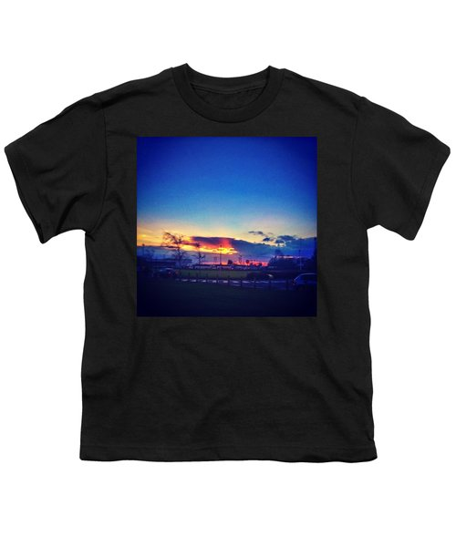 Sunset In College  #sunset #college Youth T-Shirt
