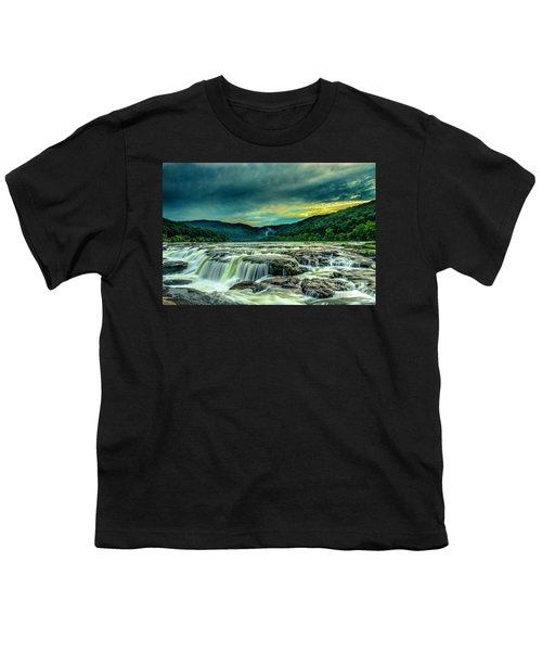 Sunset Over Sandstone Falls Youth T-Shirt