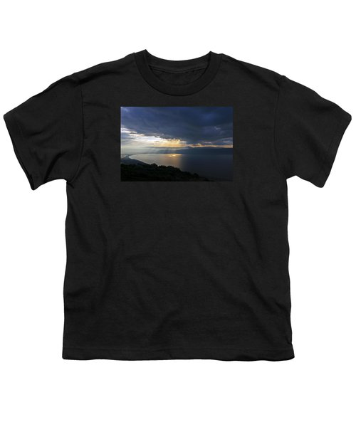 Sunset Over The Sea Of Galilee Youth T-Shirt by Dubi Roman