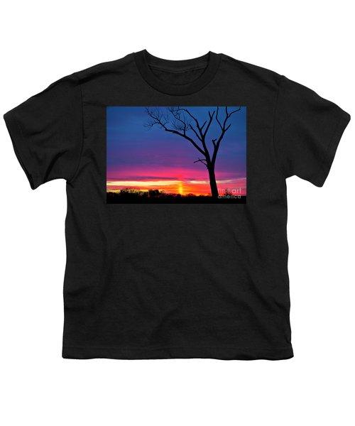 Sunset Sundog  Youth T-Shirt by Ricky L Jones