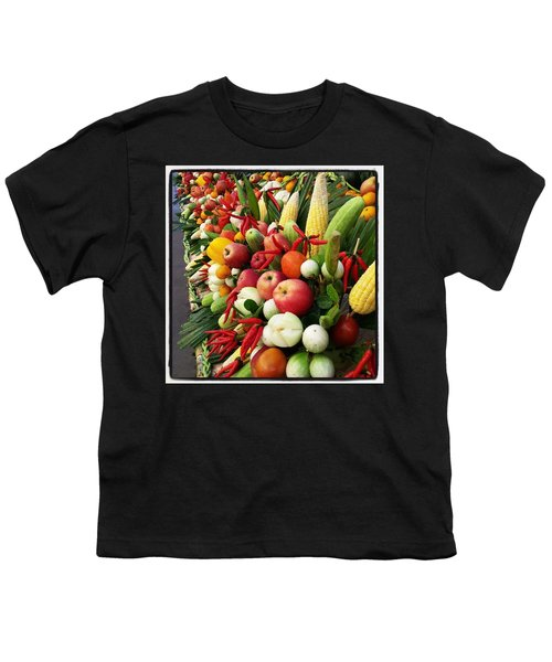 Youth T-Shirt featuring the photograph Surin Elephant Buffet by Mr Photojimsf