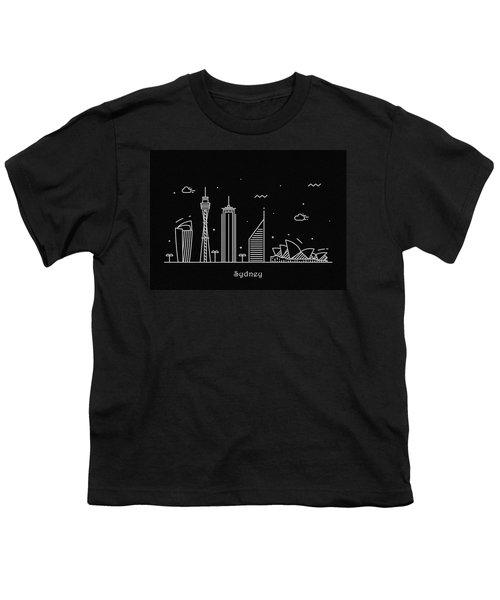 Sydney Skyline Travel Poster Youth T-Shirt