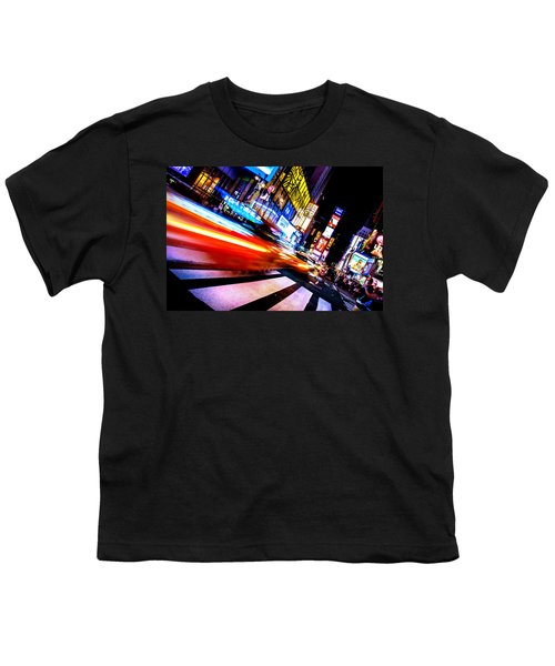 Taxis In Times Square Youth T-Shirt by Az Jackson
