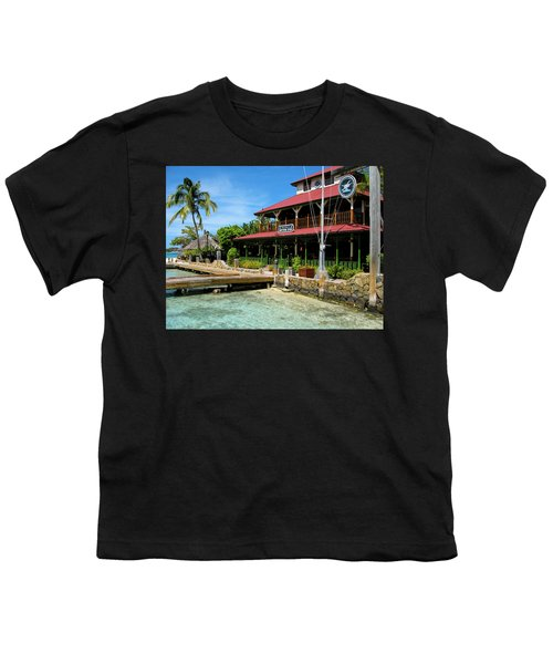 Youth T-Shirt featuring the photograph The Bitter End Yacht Club by Adam Romanowicz