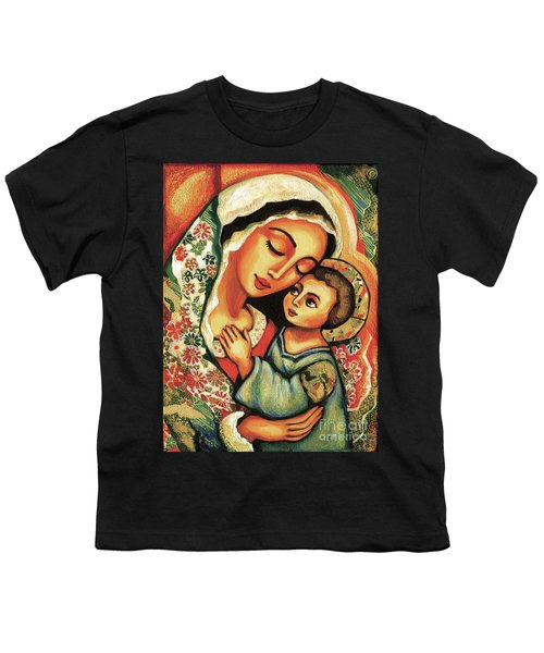 Youth T-Shirt featuring the painting The Blessed Mother by Eva Campbell