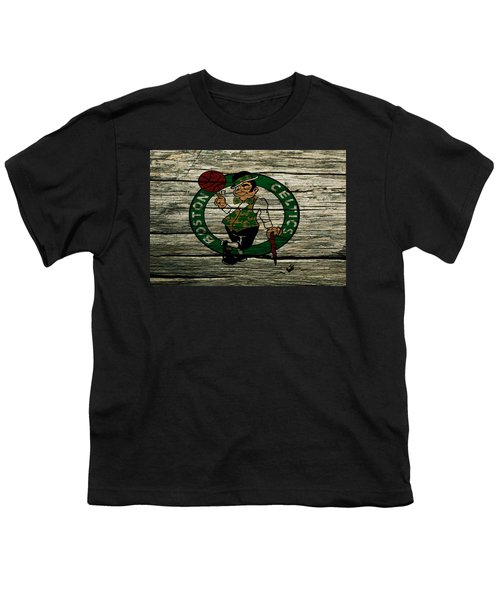 The Boston Celtics 2w Youth T-Shirt by Brian Reaves
