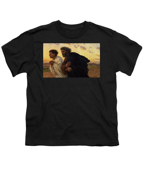 The Disciples Peter And John Running To The Sepulchre On The Morning Of The Resurrection Youth T-Shirt