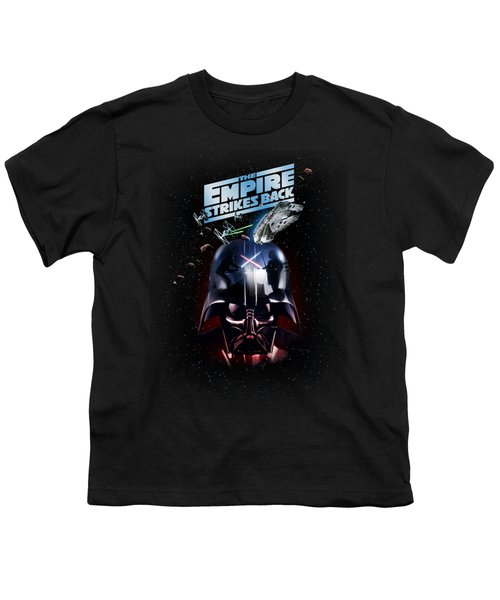 The Empire Strikes Back Youth T-Shirt by Edward Draganski