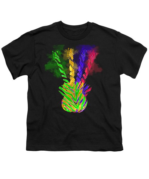Youth T-Shirt featuring the digital art The Four Guitars by Guitar Wacky