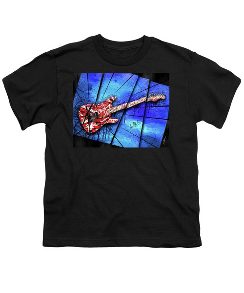 The Frankenstrat On Blue I Youth T-Shirt by Gary Bodnar