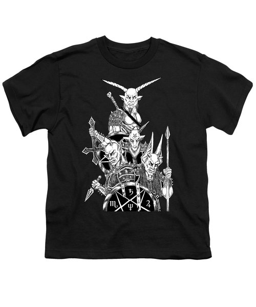 The Infernal Army Black Version Youth T-Shirt by Alaric Barca
