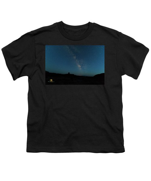 Youth T-Shirt featuring the photograph The Milky Way At Goblin Valley by Jim Thompson