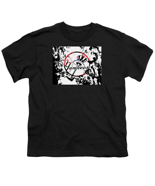 The New York Yankees 1b Youth T-Shirt by Brian Reaves