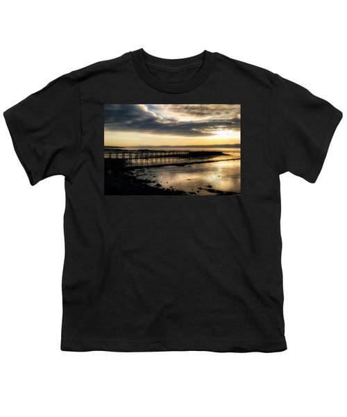 The Old Pier In Culross, Scotland Youth T-Shirt