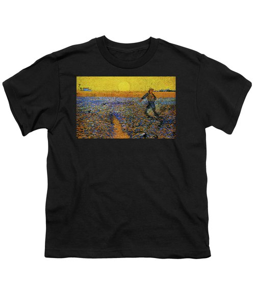 Youth T-Shirt featuring the painting The Sower by Van Gogh