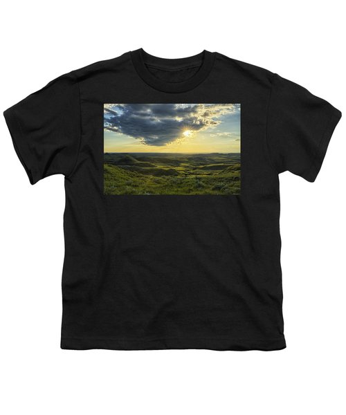 The Sun Shines Through A Cloud Youth T-Shirt by Robert Postma