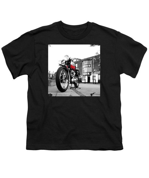 The Trophy Tr5 Motorcycle Youth T-Shirt