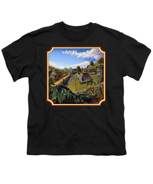 The Veon's Farm Life Country Landscape - Square Format Youth T-Shirt