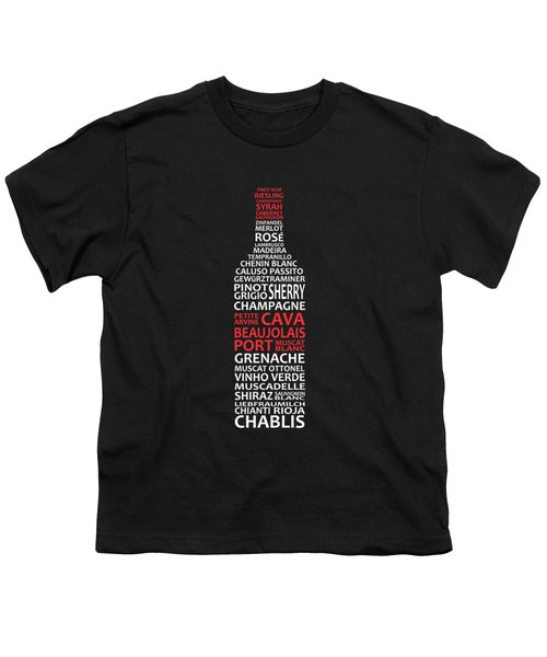 The Wine Connoisseur Youth T-Shirt by Mark Rogan