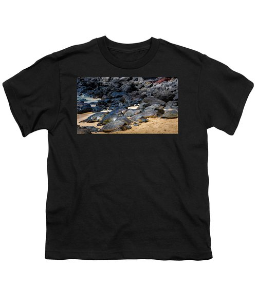 Youth T-Shirt featuring the photograph There Has Got To Be More Room On This Beach  by Jim Thompson