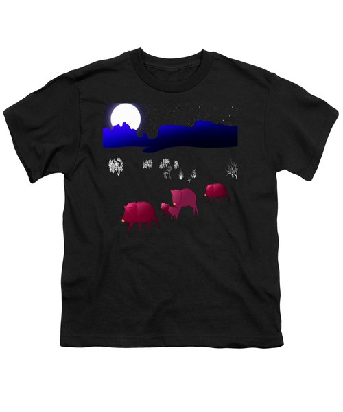 They Walk By Night Youth T-Shirt by Methune Hively