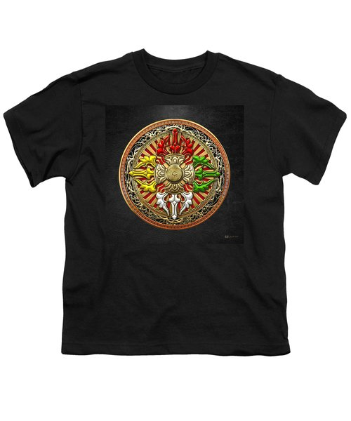 Tibetan Double Dorje Mandala Youth T-Shirt