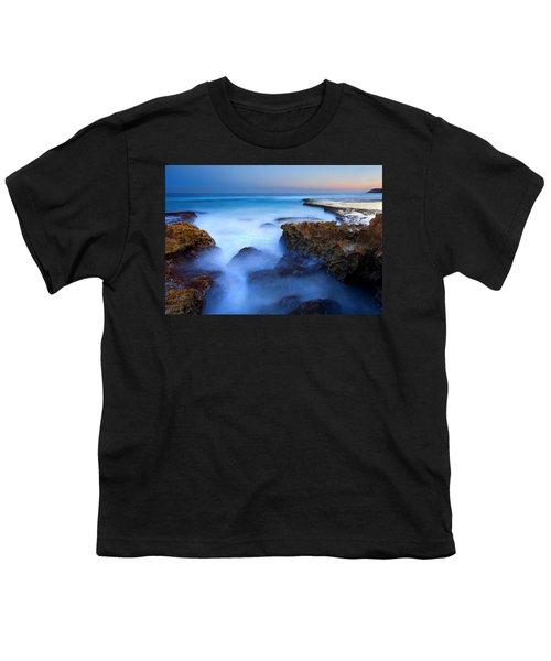 Tidal Bowl Boil Youth T-Shirt by Mike  Dawson