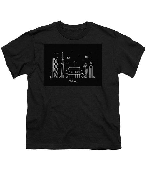 Tokyo Skyline Travel Poster Youth T-Shirt