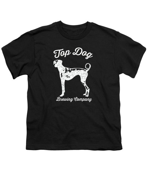Top Dog Brewing Company Tee White Ink Youth T-Shirt