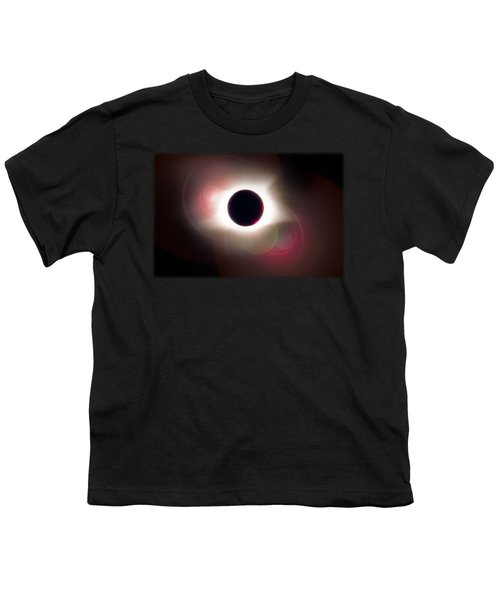 Total Eclipse Of The Sun T Shirt Art With Solar Flares Youth T-Shirt