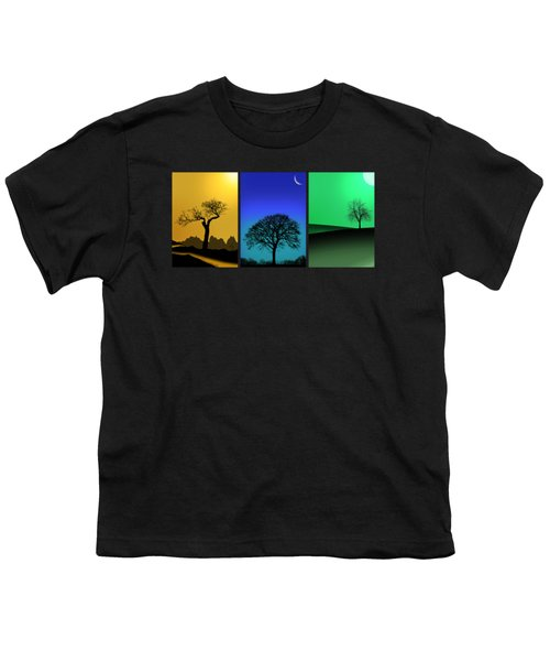 Tree Triptych Youth T-Shirt by Mark Rogan