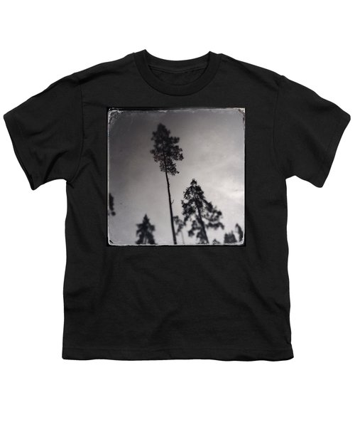 Trees Black And White Wetplate Youth T-Shirt