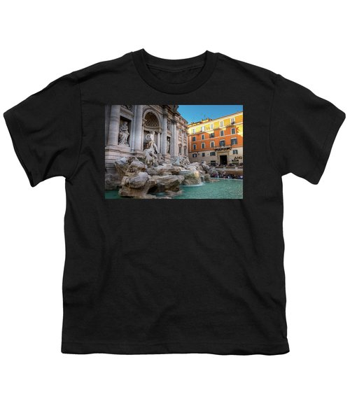 Trevi Fountain Youth T-Shirt by Fink Andreas