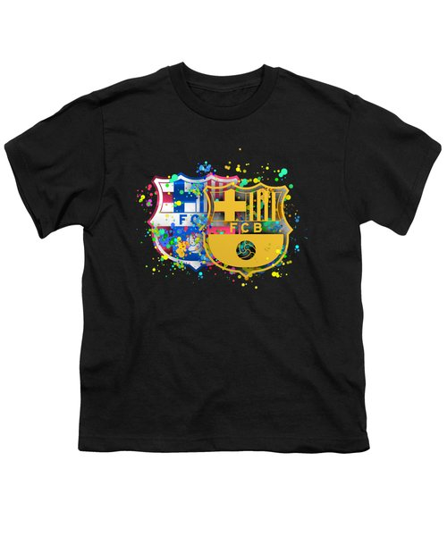 Tribute To Fc Barcelona 8 Youth T-Shirt by Alberto RuiZ