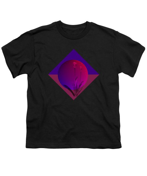 Tulip Abstract Youth T-Shirt by Nancy Pauling