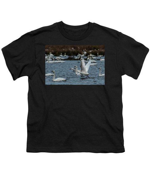 Tundra Swan And Liftoff Head Start Youth T-Shirt
