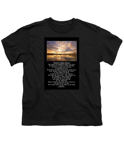 Twenty-third Psalm Prayer Youth T-Shirt by James BO  Insogna