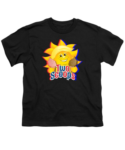 Two Scoops  Youth T-Shirt by Eye Candy Creations