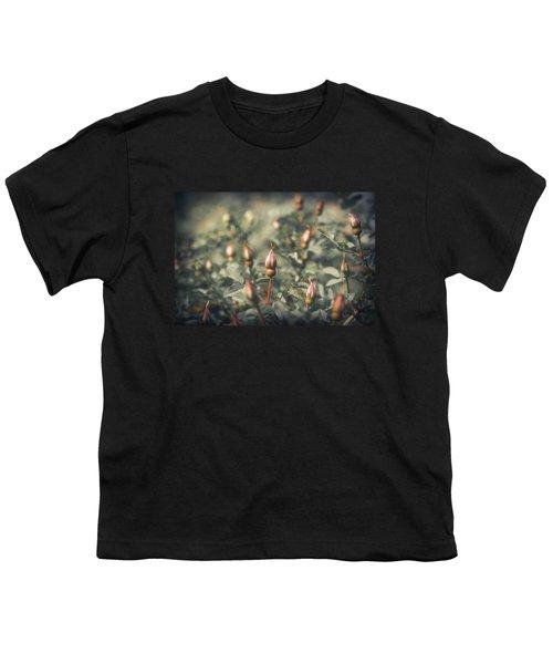 Unblown Rose Bush Youth T-Shirt by Konstantin Sevostyanov