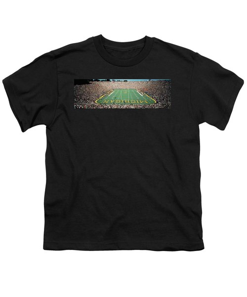 University Of Michigan Stadium, Ann Youth T-Shirt by Panoramic Images