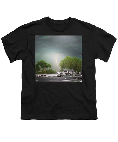 Lightning  Youth T-Shirt by Speedy Birdman