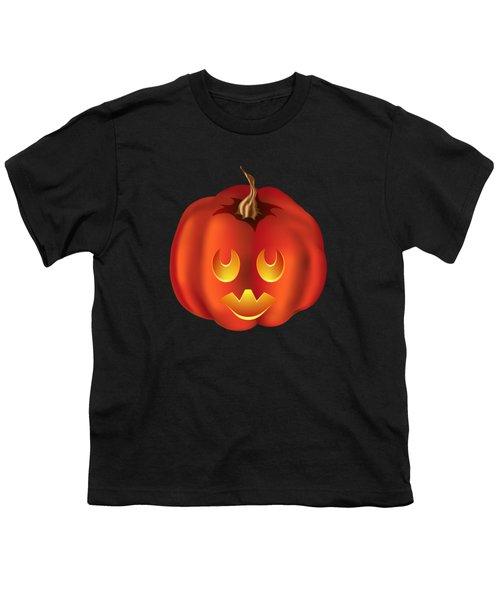 Vampire Halloween Pumpkin Youth T-Shirt
