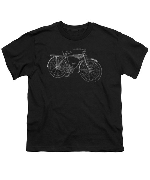 Vintage Bicycle Tee Youth T-Shirt by Edward Fielding