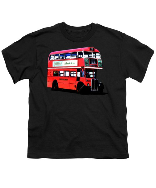 Vintage London Bus Tee Youth T-Shirt by Edward Fielding