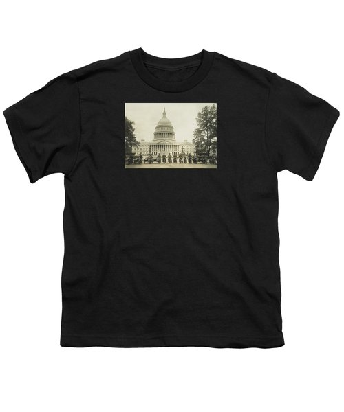 Vintage Motorcycle Police - Washington Dc  Youth T-Shirt by War Is Hell Store