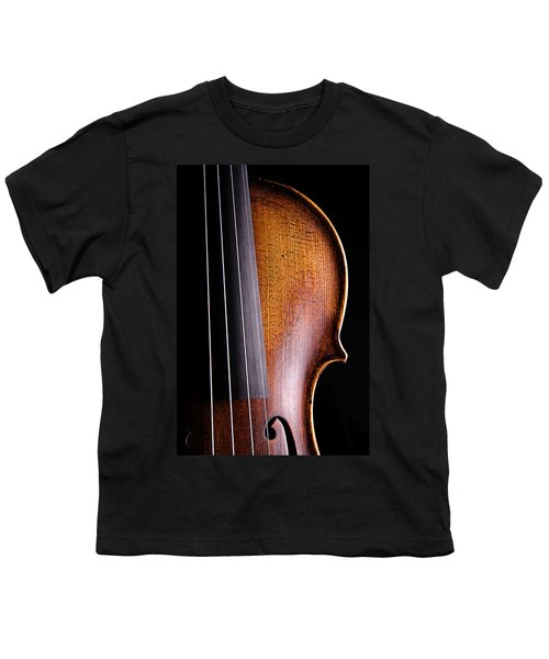 Violin Isolated On Black Youth T-Shirt