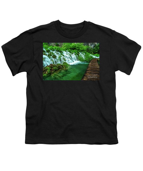 Walking Through Waterfalls - Plitvice Lakes National Park, Croatia Youth T-Shirt