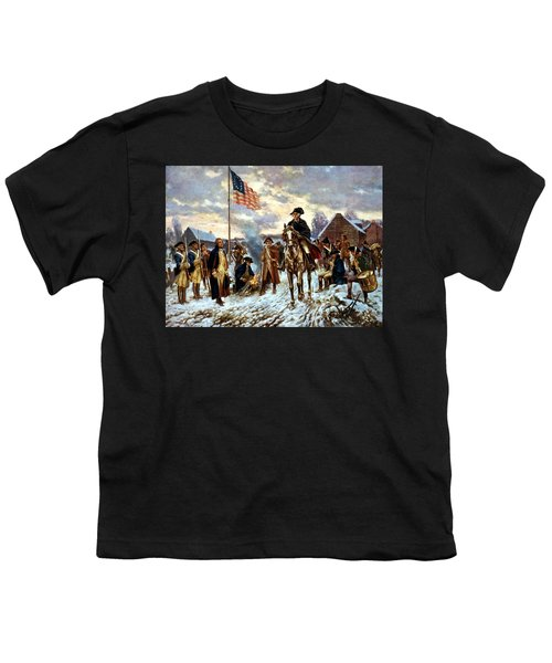 Washington At Valley Forge Youth T-Shirt